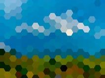 Fondo defocused del paisaje del hexágono del vector Foto de archivo