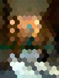 Fondo defocused del paisaje del hexágono del vector Imagen de archivo libre de regalías