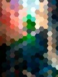 Fondo defocused del paisaje del hexágono del vector Foto de archivo libre de regalías
