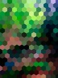 Fondo defocused del paisaje del hexágono del vector Fotografía de archivo libre de regalías