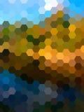 Fondo defocused del paisaje del hexágono del vector Fotos de archivo