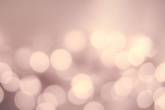 Fondo Defocused dell'annata della luce di Bokeh dell'oro di Natale Elegante fotografia stock libera da diritti