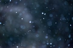 Fondo defocused molle di neve di caduta fotografia stock