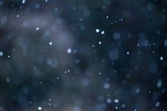 Fondo defocused suave de la nieve que cae foto de archivo