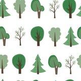 Fondo degli alberi del fumetto illustrazione di stock