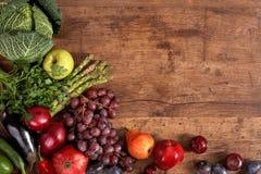 Fondo degli alimenti organici Immagini Stock Libere da Diritti