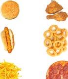 Fondo degli alimenti a rapida preparazione Fotografie Stock Libere da Diritti