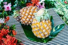 Fondo degli ananas Fotografia Stock