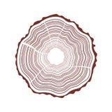 Fondo degli anelli di albero illustrazione di stock
