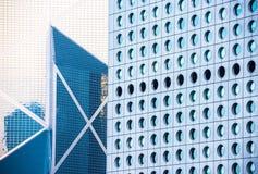 Fondo degli edifici per uffici in Hong Kong Fotografia Stock Libera da Diritti