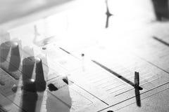 Fondo degli elementi dei dettagli e commutatori di un keyp del DJ di musical Immagini Stock Libere da Diritti