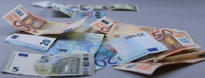 Fondo degli euro Fotografie Stock Libere da Diritti