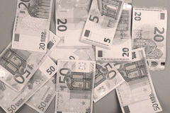 Fondo degli euro Fotografie Stock