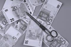Fondo degli euro Fotografia Stock Libera da Diritti