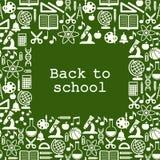 Fondo degli scolari con il posto per testo Immagine Stock Libera da Diritti