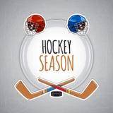 Fondo degli sport invernali Stagione di hockey Fotografia Stock