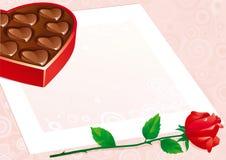 Fondo dei biglietti di S. Valentino Fotografie Stock