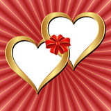 Fondo dei biglietti di S. Valentino Immagine Stock