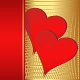 Fondo dei biglietti di S. Valentino Fotografia Stock