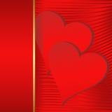 Fondo dei biglietti di S. Valentino Fotografie Stock Libere da Diritti