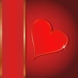 Fondo dei biglietti di S. Valentino Fotografia Stock Libera da Diritti