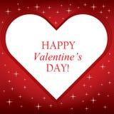 Fondo dei biglietti di S. Valentino con la stella luminosa illustrazione vettoriale