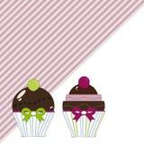 Fondo dei bigné del cioccolato Fotografie Stock