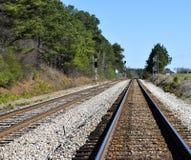 Fondo dei binari ferroviari Immagini Stock Libere da Diritti