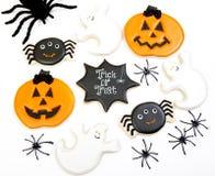 Fondo dei biscotti di Halloween Immagini Stock Libere da Diritti