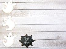 Fondo dei biscotti di Halloween Fotografia Stock