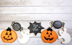 Fondo dei biscotti di Halloween Immagine Stock Libera da Diritti