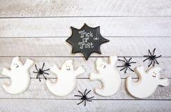 Fondo dei biscotti di Halloween Fotografie Stock Libere da Diritti