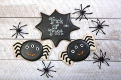 Fondo dei biscotti di Halloween Immagini Stock