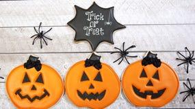 Fondo dei biscotti di Halloween Fotografia Stock Libera da Diritti