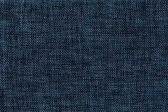 Fondo dei blu navy di prodotto insaccante intessuto denso, primo piano Struttura della macro del tessuto immagini stock