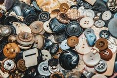 Fondo dei bottoni differenti Fotografie Stock Libere da Diritti