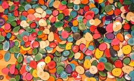 Fondo dei bottoni variopinti Fotografia Stock