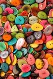 Fondo dei bottoni variopinti Fotografia Stock Libera da Diritti