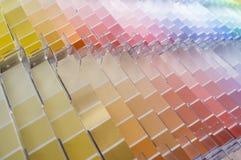 Fondo dei campioni di colore Fotografia Stock Libera da Diritti