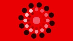 Fondo dei cerchi e di filatura in bianco e nero dei punti royalty illustrazione gratis