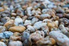Fondo dei ciottoli variopinti della spiaggia Fotografia Stock