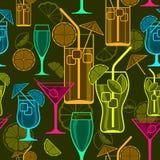 Fondo dei cocktail Fotografia Stock Libera da Diritti