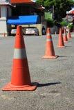 Fondo dei coni di traffico Immagine Stock