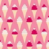 Fondo dei coni gelati Fotografia Stock