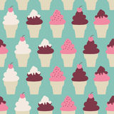 Fondo dei coni gelati illustrazione di stock