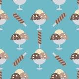 Fondo dei coni gelati illustrazione vettoriale