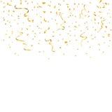 Fondo dei coriandoli dell'oro Fotografia Stock