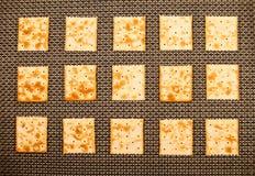 Fondo dei cracker Fotografie Stock Libere da Diritti
