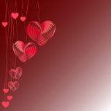 Fondo dei cuori di vettore del biglietto di S. Valentino royalty illustrazione gratis