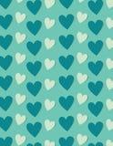 Fondo dei cuori in tonalità del blu, backgournd di vettore Fotografia Stock
